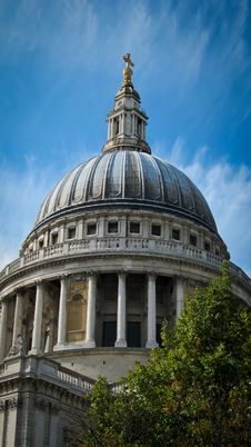 Free St. Paul S Cathedral Against Blue Sky Stock Image - 21085001