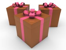 Free 3d Gift Box Celebration Stock Photos - 21085273