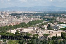 Free Aerial View Of Rome Royalty Free Stock Image - 21085756