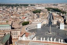 Free St Peter Square And Rome Stock Photo - 21085800