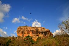 Free Eagle Over The Lion Rock Royalty Free Stock Photo - 21085935