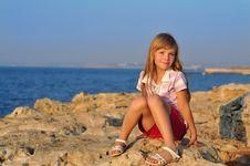 Free Girl At Sea Stock Photo - 21086950