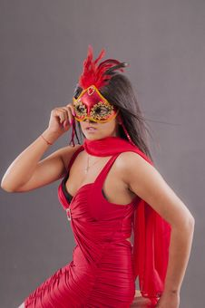 Free Girl With Mask Stock Photos - 21087103