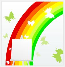 Rainbow On An Easel Stock Image