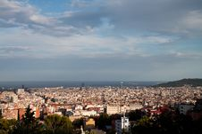 Free View Of Sunny Barcelona Stock Photography - 21087612