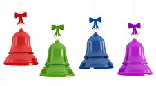 Free Colorful  Christmas Bells Royalty Free Stock Images - 21087699
