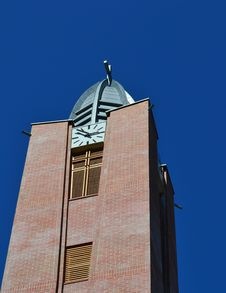 Modern Church Tower Stock Photo