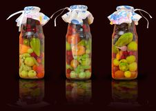 Free Jars With Conserved Vegetables Stock Photo - 21089470