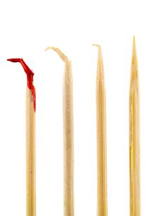 Free Bloody Toothpick Royalty Free Stock Photos - 21089508