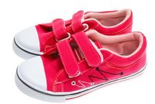 Free Red Sneakers Isolated On White Royalty Free Stock Photos - 21089628