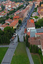 Free European City With Red Roof Tiles, Bird View Stock Images - 21091164