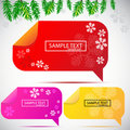 Free Christmas Bubbles For Speech Royalty Free Stock Image - 21092356