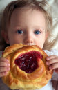 Free A Baby Girl And A Pie Stock Photo - 21094570