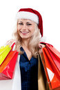 Free Christmas Woman With Shopping Bags Royalty Free Stock Image - 21095596