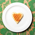 Free Sweet Wafer Heart Royalty Free Stock Photos - 21097188