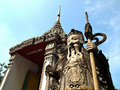 Free Stone Guard At Wat Pho With Blue Sky Royalty Free Stock Photo - 21099655