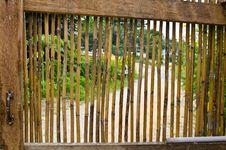 Free Bamboo Door Background Stock Image - 21090311