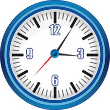 Free Analog Clock Illustration Stock Photography - 21091572