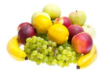 Free Apples, Peaches, Bananas, Grapes Royalty Free Stock Images - 21091849
