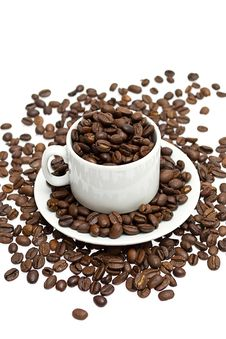 Free Coffee Beans In A Cup Royalty Free Stock Image - 21092016