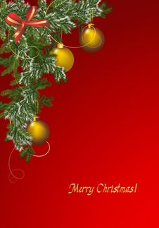 Christmas Greeting Card, Cdr Vector Royalty Free Stock Photography