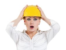 Free Girl With Hard Hat Stock Images - 21094114