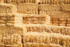 Free Horizontal Stack Of Hay Bailes Stock Images - 21095074