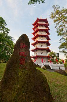 Free Majestic Oriental Pagoda Royalty Free Stock Image - 21095266