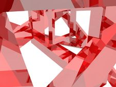 Free Geometry Composition In Red Stock Photo - 21095330