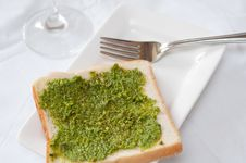 Delicious Pesto Toast Stock Images