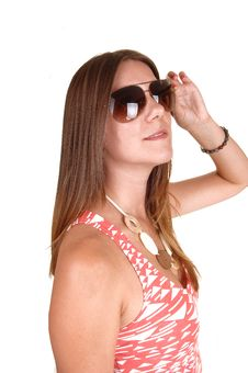 Free Girl With Sunglasses. Royalty Free Stock Photos - 21095458