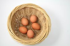 Free Basket Of Eggs Royalty Free Stock Photography - 21095767