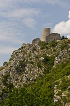 Free Drnis Fortress On The Cliff Stock Image - 21096521
