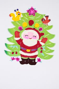 Free Paper-cut Of Santa Claus Stock Photography - 21096562