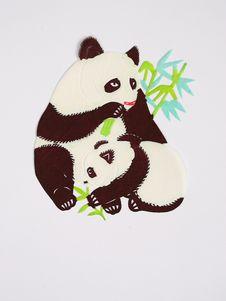 Free Paper-cut Of Panda Stock Photo - 21096640