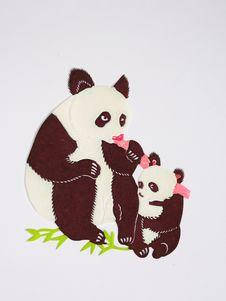 Free Paper-cut Of Pandas Royalty Free Stock Photo - 21096645
