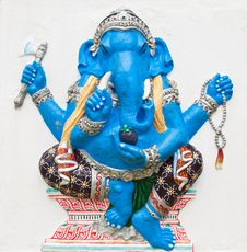 Free Hindu Ganesha God Named Ekdanta Ganapati Stock Photography - 21096712