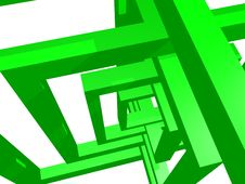 Geometry Composition In Green Stock Photo