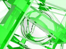 Free Geometry Composition In Green Royalty Free Stock Photo - 21096785