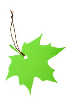 Free Green Maple Leaf Tag Stock Image - 21097281