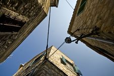 Free View Up High On Old Stone Houses And Blue Sky Stock Photo - 21097390