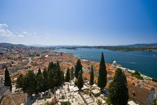 Free Panorama Of Sibenik Houses Nad The Blue Channel Royalty Free Stock Image - 21097566
