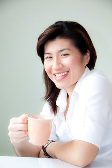 Free Smiling Young Asian Woman Stock Photo - 21097610