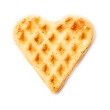 Free Sweet Wafer Heart Royalty Free Stock Photos - 21097848