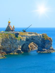 Free Church On The Rock Stock Images - 21097924