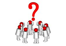 Free The Person And Question Stock Images - 21098064