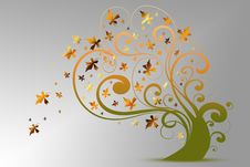 Free Autumn Tree Royalty Free Stock Images - 21098129