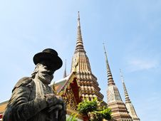 Free Stone Giant Statue At Wat Pho Bangkok, Thailand Stock Photos - 21098563