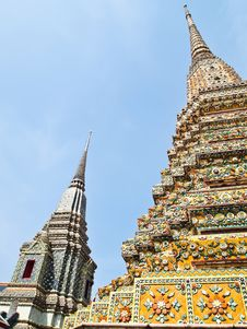 Free Pagoda At Wat Pho In Bangkok , Thailand Royalty Free Stock Photos - 21098768