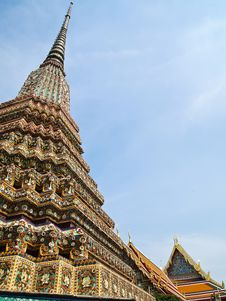 Free Ancient Pagoda With Wat Pho On The Background Stock Image - 21098771